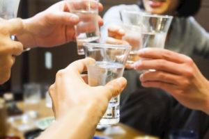 日本酒スパークリングで乾杯!